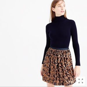 J. Crew Abstract Sequin Skirt - 8 (runs small)